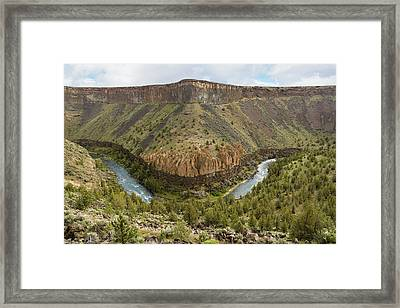 Crooked River Gorge Framed Print by Joe Hudspeth