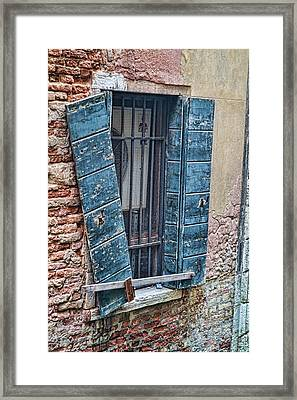 Framed Print featuring the photograph Crooked Shutter by Kim Wilson