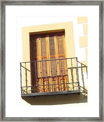 Crooked Window In Toledo Framed Print
