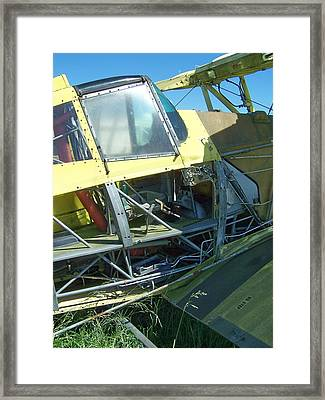 Crop Duster Framed Print by Gene Ritchhart