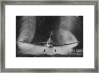 Crop Duster Framed Print