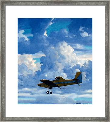 Crop Duster Framed Print by Kevin Lawrence Leveque
