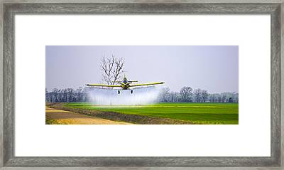Precision Flying - Crop Dusting 1 Of 2 Framed Print