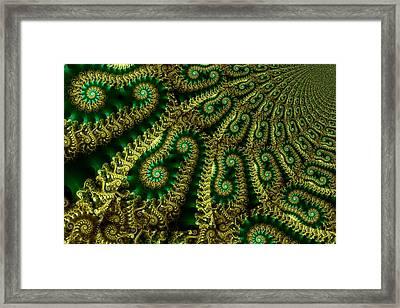 Crop Fields Framed Print by Digital Art Cafe