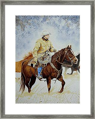 Cropped Ranch Rider Framed Print