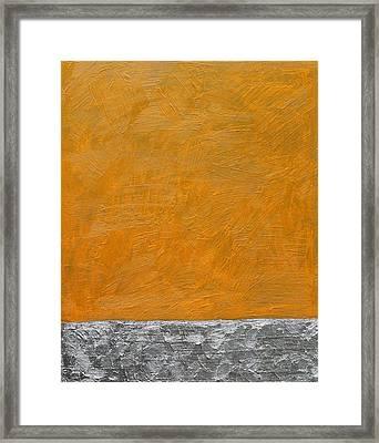 Fields Oil On Board 16 X 20 2014 Framed Print