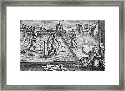 Croquet Framed Print by English School