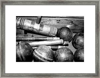 Croquet Framed Print