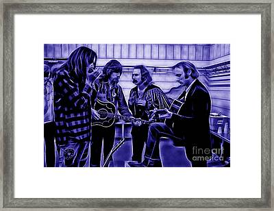 Crosby Stills Nash And Young Framed Print by Marvin Blaine