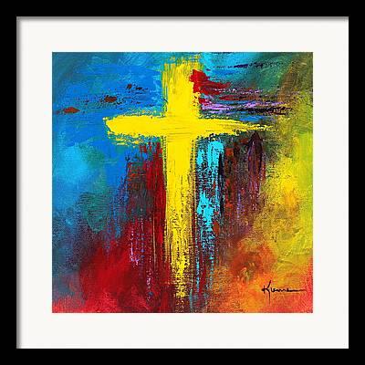 True Cross Paintings Framed Prints