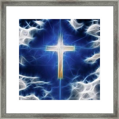 Cross Abstract Framed Print