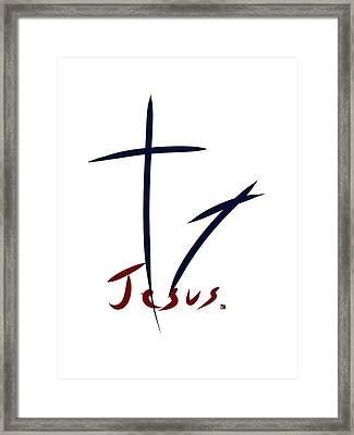 Cross And Shadow Framed Print
