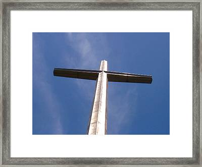 Cross At St. Augustine Framed Print by Kenneth Albin