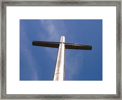 Cross At St. Augustine Framed Print