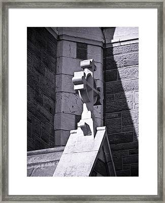 Cross At St. Johns Tralee Ireland Framed Print by Teresa Mucha