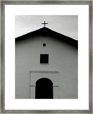 Cross At The Top- Art By Linda Woods Framed Print