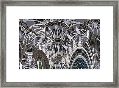 Cross Bracing Exposed Framed Print by Ron Bissett