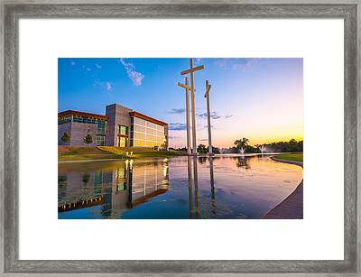 Cross Church Sunset - Bentonville - Rogers Arkansas Framed Print