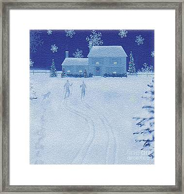 Cross-country  Framed Print by Jim Rehlin