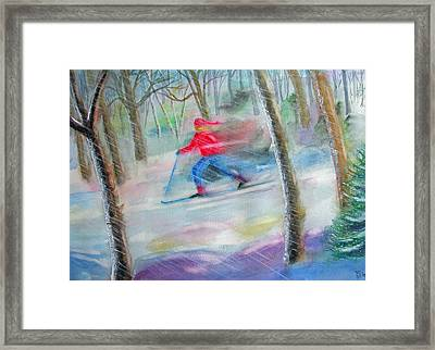 Cross Country Ski Framed Print by Robert P Hedden