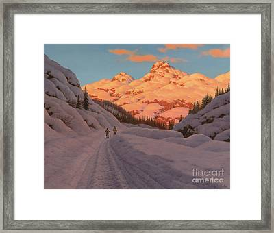 Cross Country Skiing, Haute Savoie Framed Print by Ivan Fedorovich Choultse
