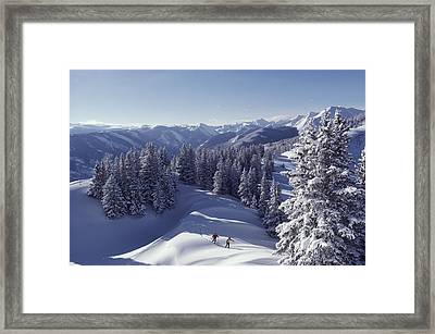 Cross-country Skiing In Aspen, Colorado Framed Print by Annie Griffiths