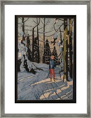 Cross Country Skiing In Upstate Ny Framed Print
