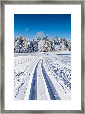 Cross-country Skiing Framed Print by JR Photography