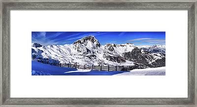 Cross Country Snow Framed Print