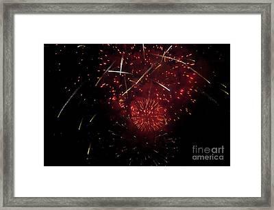Cross Fire Framed Print