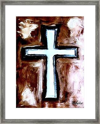 Cross For Me Framed Print by Marsha Heiken