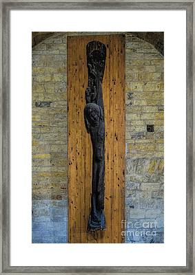 Christ From A Trunk Framed Print