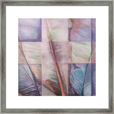 Cross In Layers Framed Print by Adri Voulgarellis