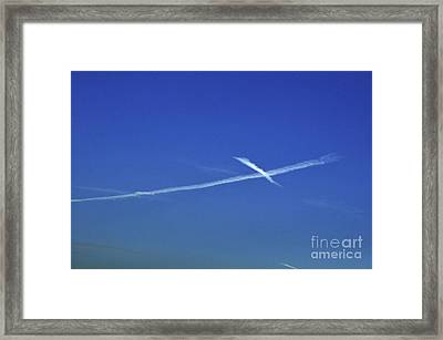 Cross In The Sky Framed Print by Clayton Bruster