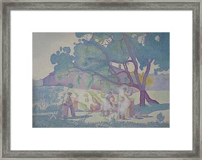 Cross La Ferme Framed Print by MotionAge Designs