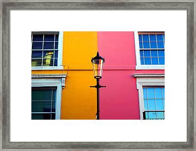 Cross Lamp Framed Print by Jez C Self