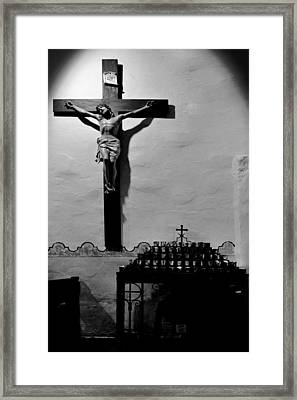 Cross Mission San Diego De Alcala Framed Print by Christine Till