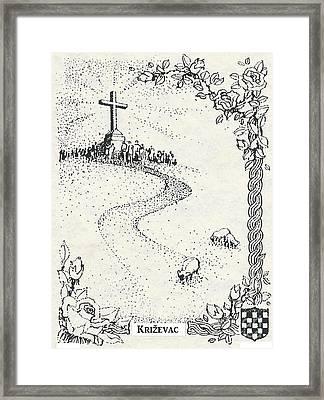 Cross Mt, Medjugorje  Framed Print by Christina Verdgeline
