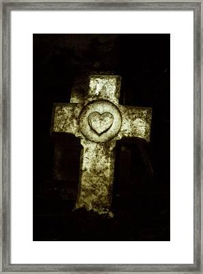 Cross My Heart Framed Print by Carl Perry