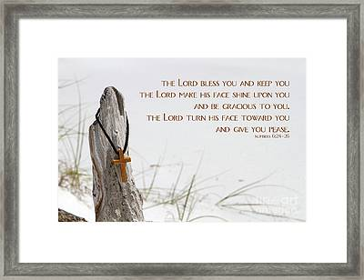 Cross Necklace Framed Print