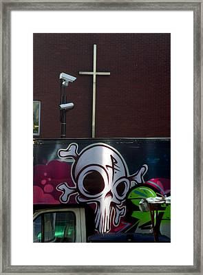 Cross Of Death Framed Print by Jez C Self