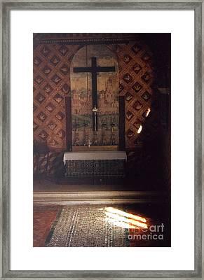 Cross Of Light Framed Print by Andrea Simon