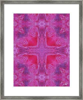 Cross Of Love Framed Print by Maria Watt