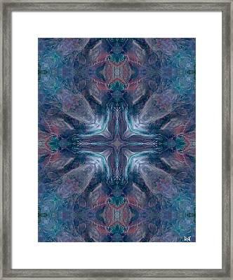 Cross Of Mentors Framed Print by Maria Watt