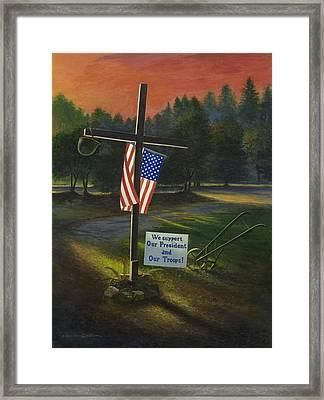Cross Of Remembrance Framed Print