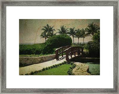 Cross Over Framed Print by Lauren Goia