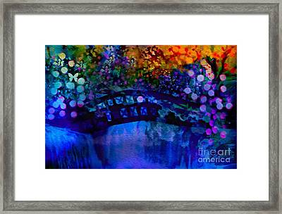Cross Over The Bridge Framed Print