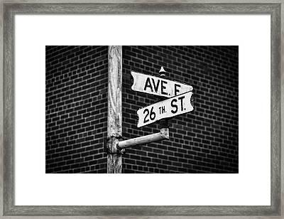 Cross Roads Framed Print