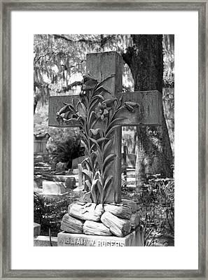 Cross Series IIi In Black And White Framed Print