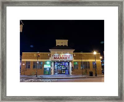 Cross Street Market Framed Print by Sean Jones